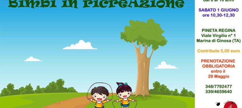 manifesto Bimbi in ricreazione